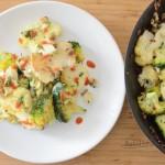 Tigaie cu conopidă și broccoli