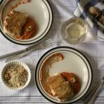 Piure de nuci și pește halibut