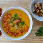 Cremă de morcovi cu midii