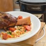Crock-pot lamb shin
