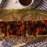 Tartă cu urdă și legume