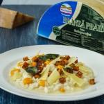 Risotto cu brânză și dovleac cu salvie
