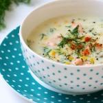 Supă groasă cu somon