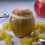 Soufflé de vanilie și coniac cu parfum de măr