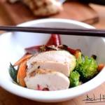 Piept de pui la grătar și legume la wok