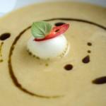Baked garlic cream soup